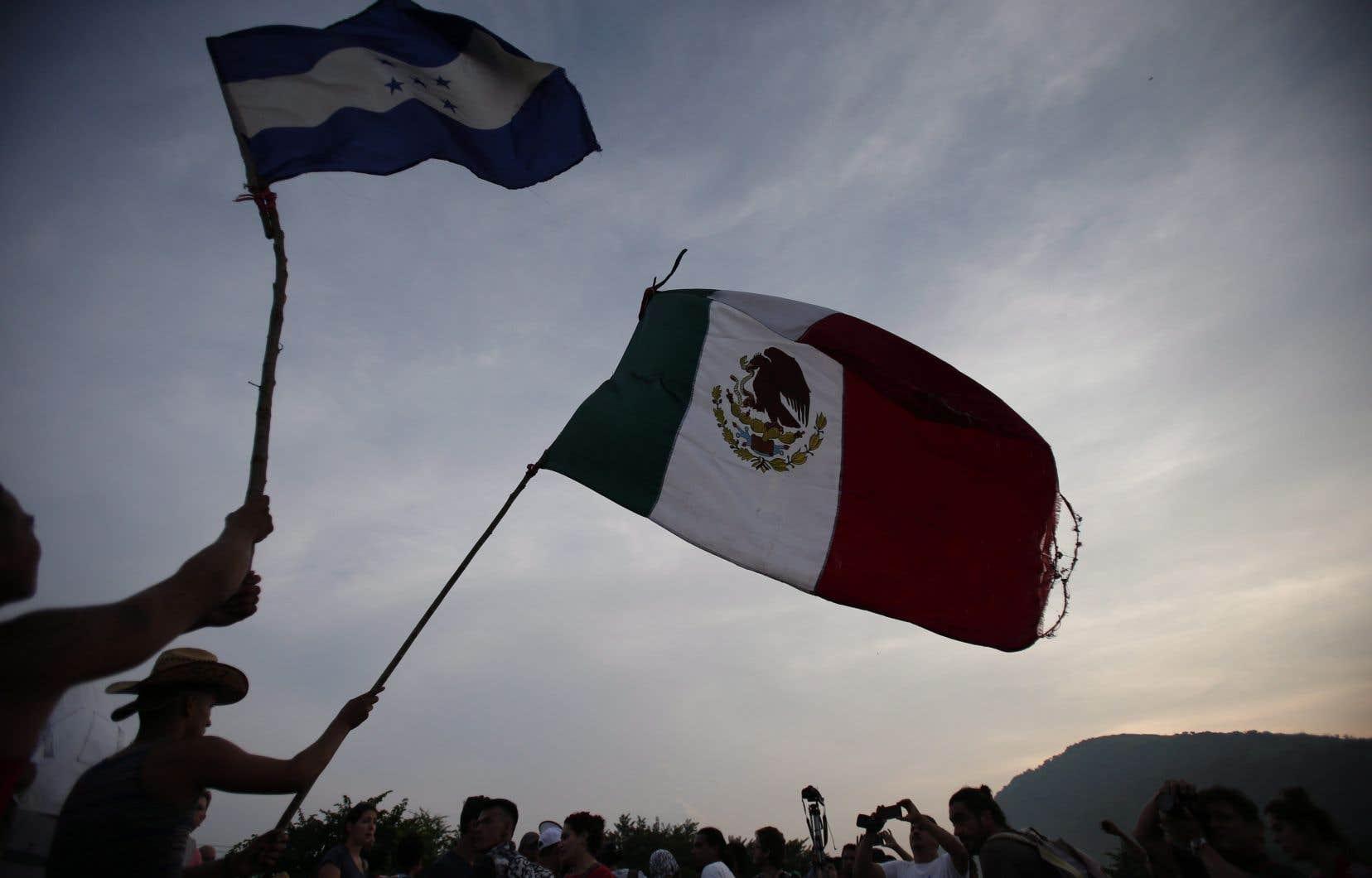 Le Mexique ressent le contrecoup d'un exode sans précédent de personnes fuyant les pays d'Amérique centrale.
