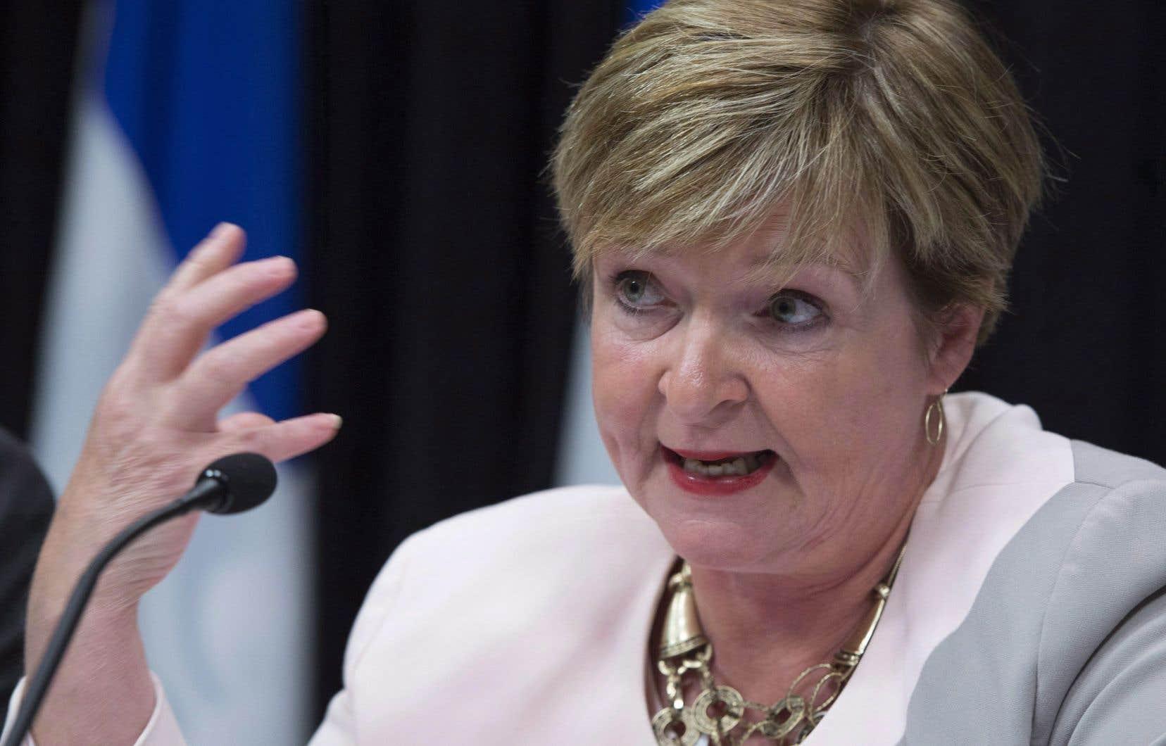 La vérificatrice générale, Guylaine Leclerc, conteste les arguments avancés par des sociétés d'État à vocation commerciale