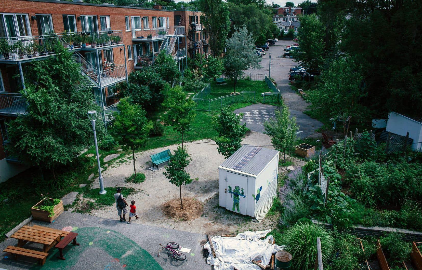 Le programme AccèsLogis finance une foule de projets en logements abordables.
