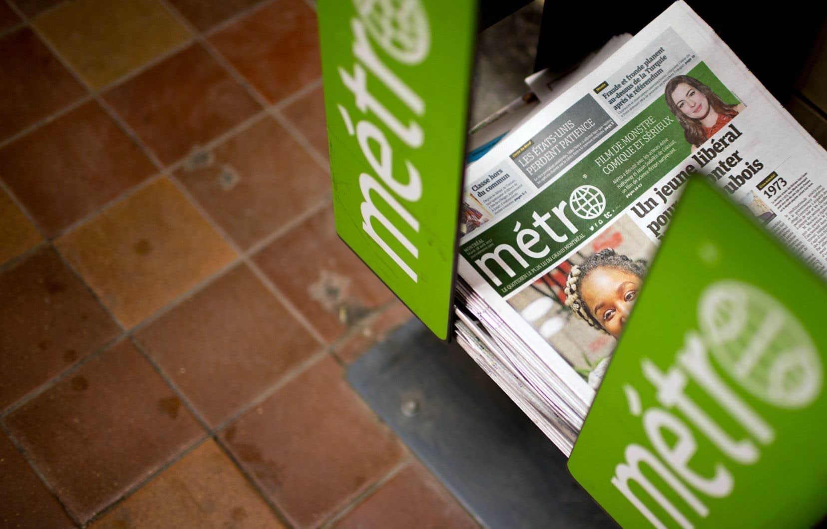 Les employés du quotidien «Métro» conserveront leurs conditions actuelles en attendant l'autorisation de leur requête d'accréditation.