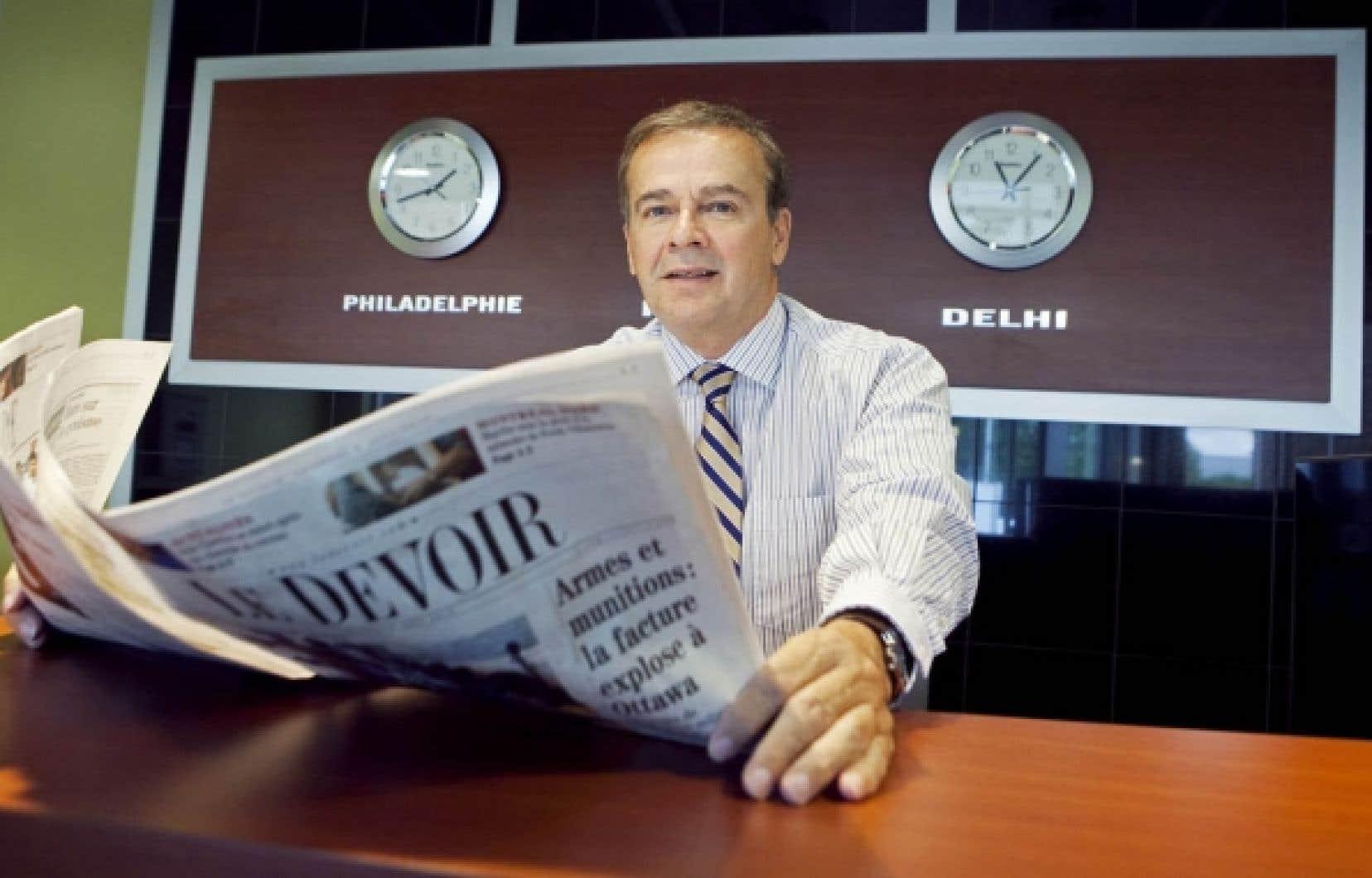 Avocat de formation, l'ancien député péquiste Normand Jutras règle depuis son domicile de Delhi les questions légales et administratives qui vont de pair avec ce qu'il appelle sa «nouvelle carrière».<br />