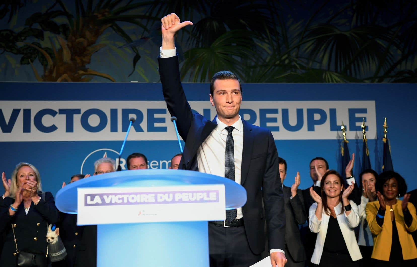 Le parti de Marine Le Pen, le Rassemblement national, a remporté les élections européennes en France. Sur la photo, Jordan Bardella, tête de liste de la formation.