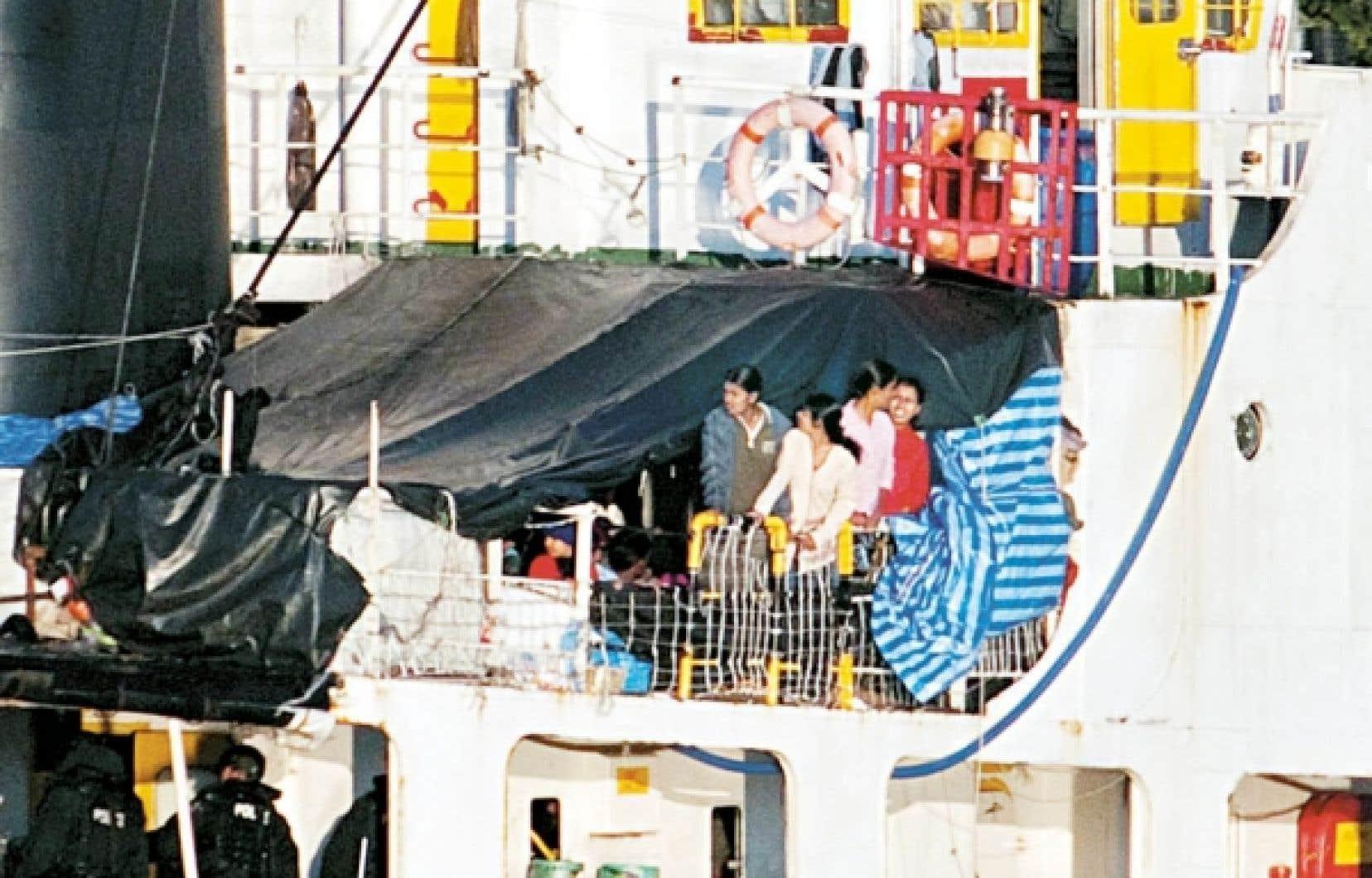 Près de 500 migrants tamouls sont arrivés le 13 août dernier, à bord du MV Sun Sea.<br />