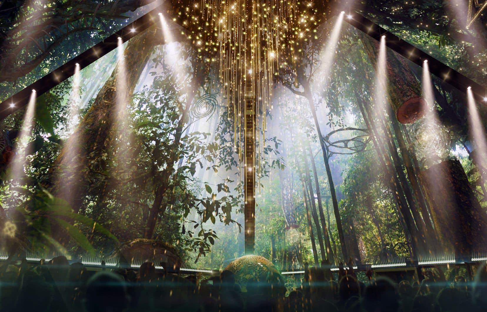 Le spectacle multimédia de 60 minutes est présenté comme un «voyage à travers l'espace et le temps».