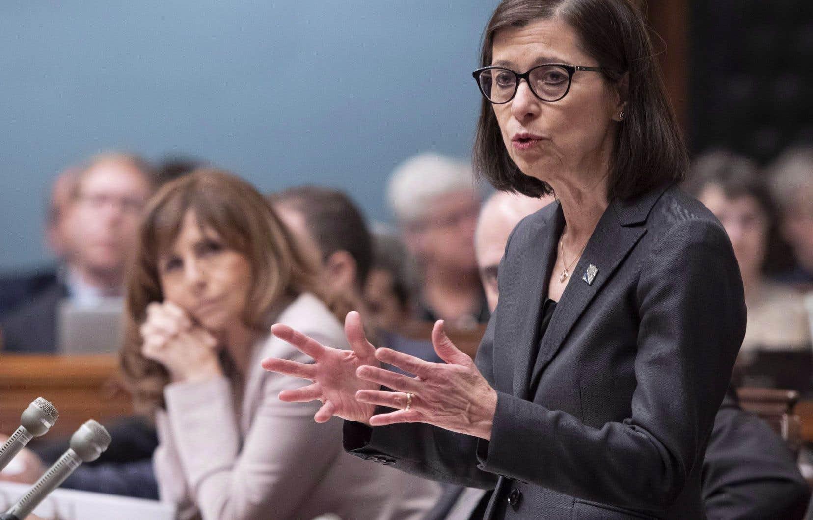 Danielle McCann, ministre de la Santé et des Services sociaux
