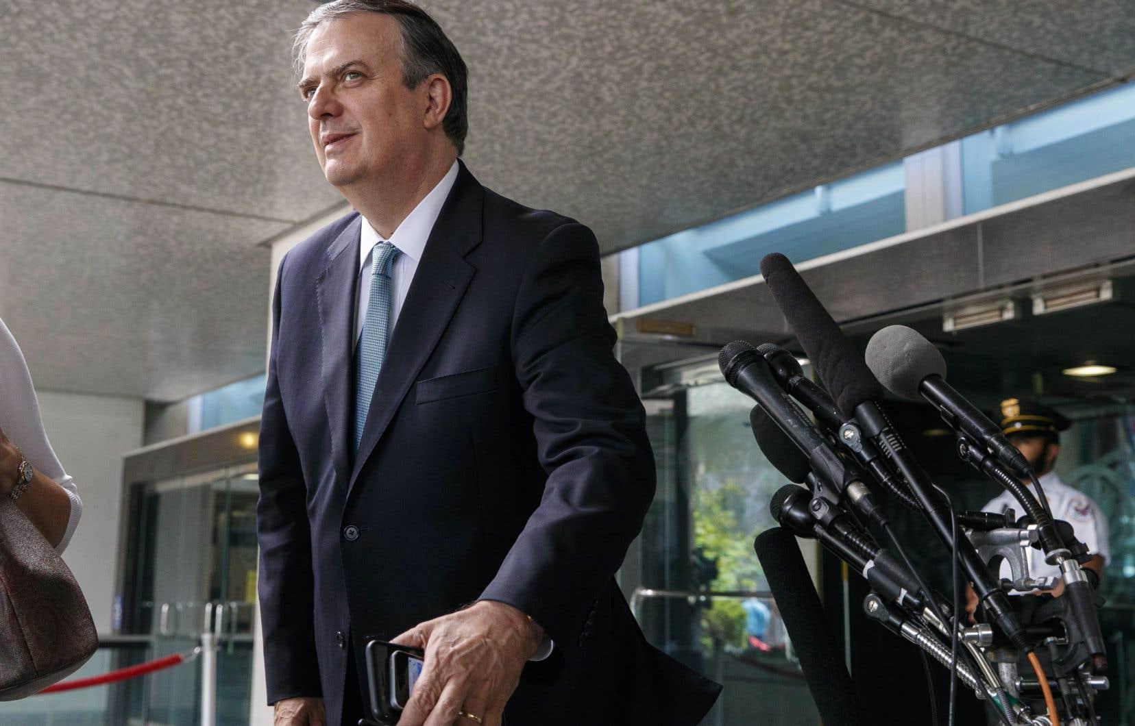 Le secrétaire mexicain aux Affaires étrangères, Marcelo Ebrard