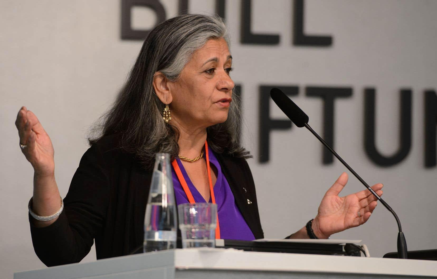 La sénatrice Ratna Omidvar