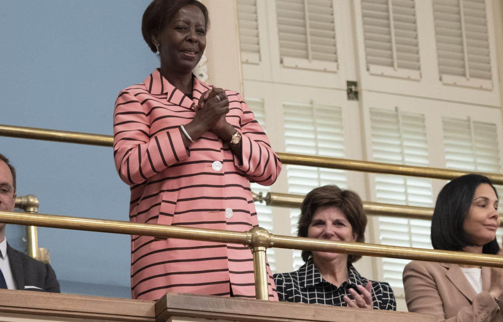 La secretaire générale de la Francophonie Louise Mushikiwabo