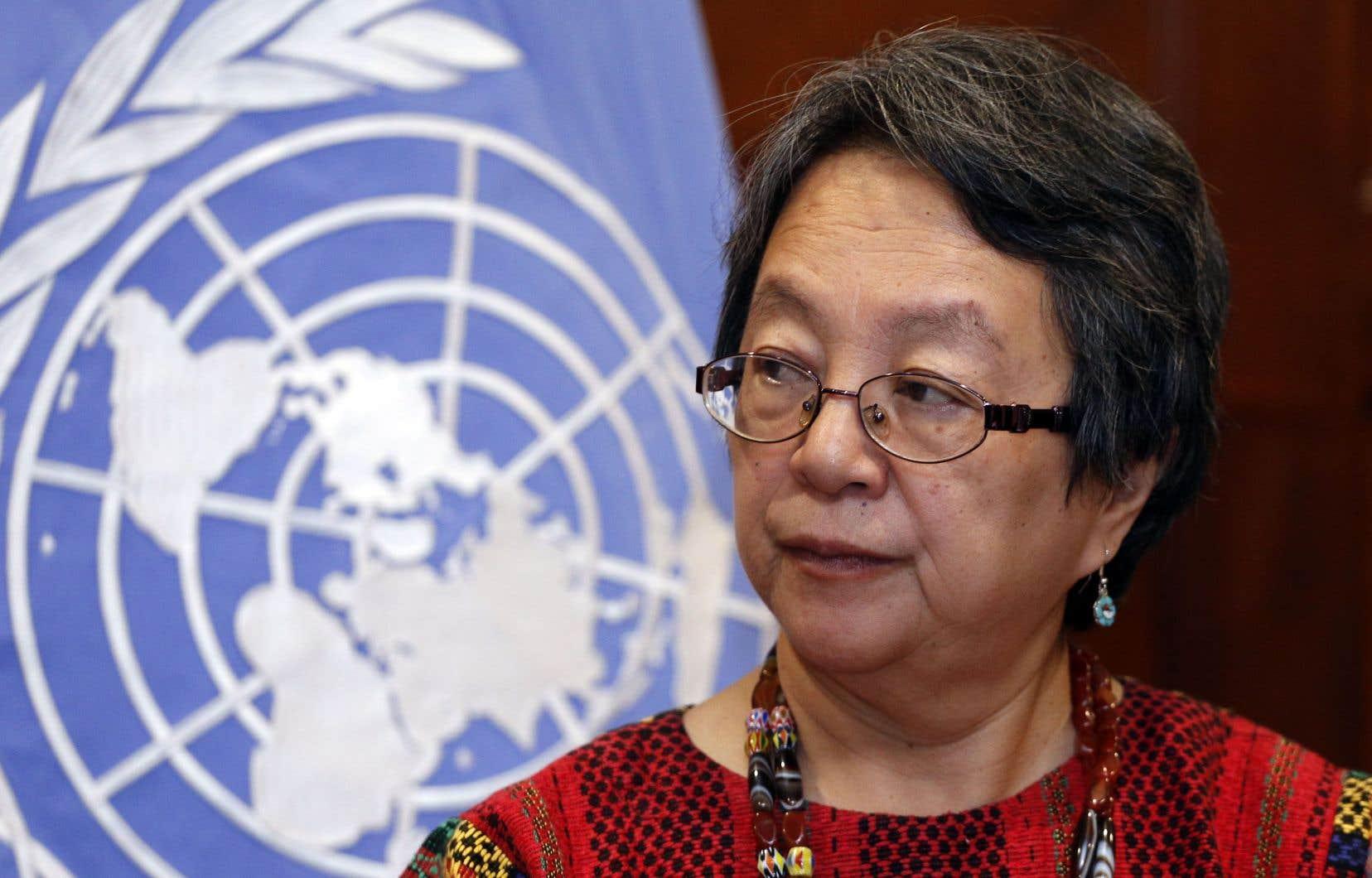 La rapporteuse spéciale des Nations unies sur les droits des peuples autochtones, Victoria Tauli-Corpuz
