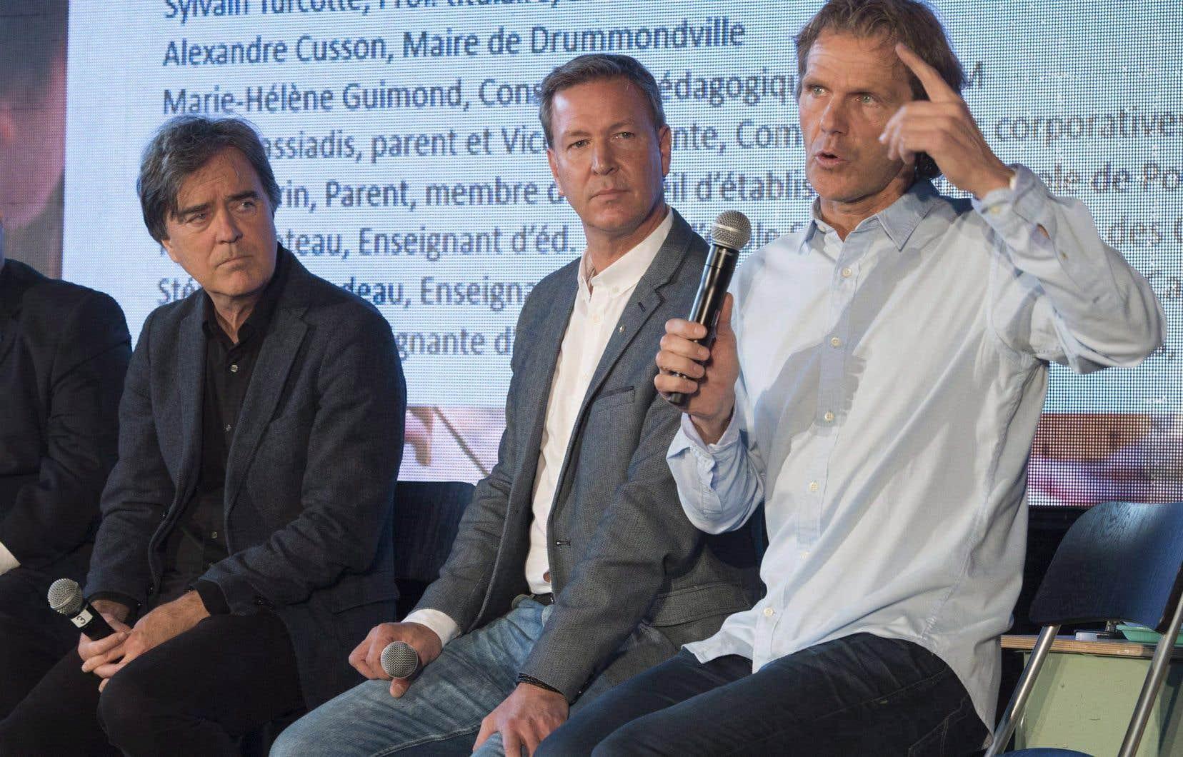 Les membres fondateurs du Lab-École, en 2017. De gauche à droite: Pierre Thibault, Ricardo Larrivée et Pierre Lavoie