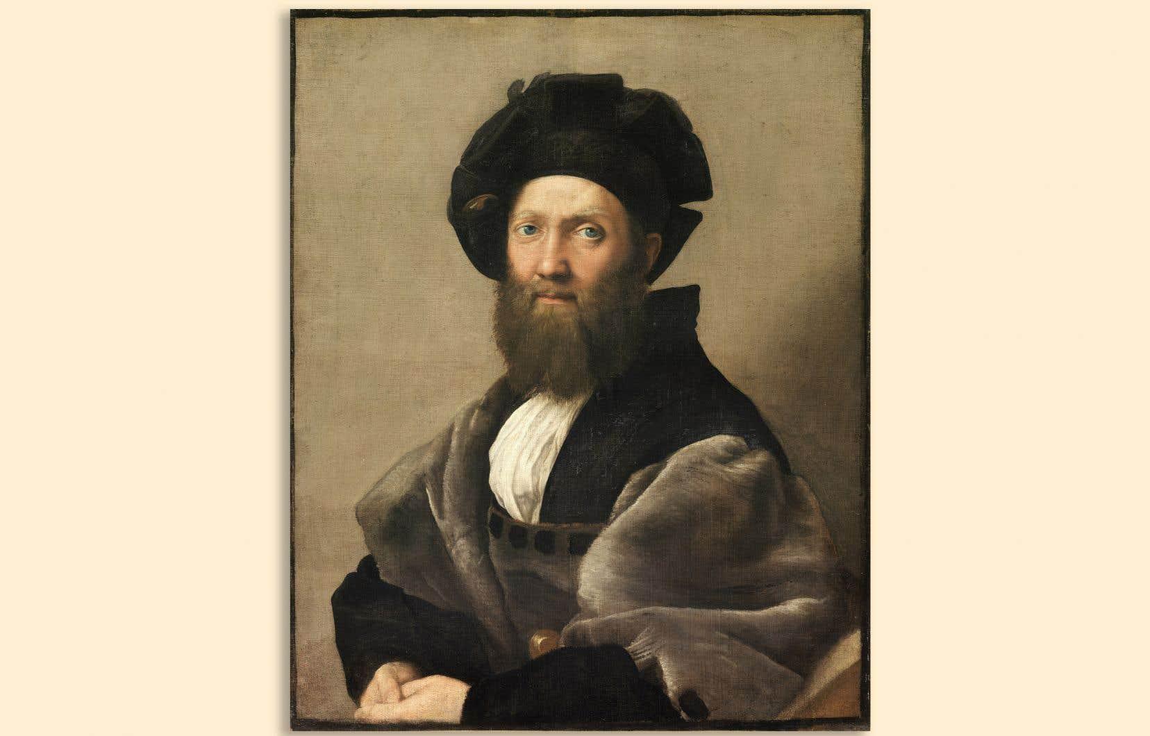 Portrait de Baldassare Castiglione par Raphaël, probablement à l'hiver 1514-1515