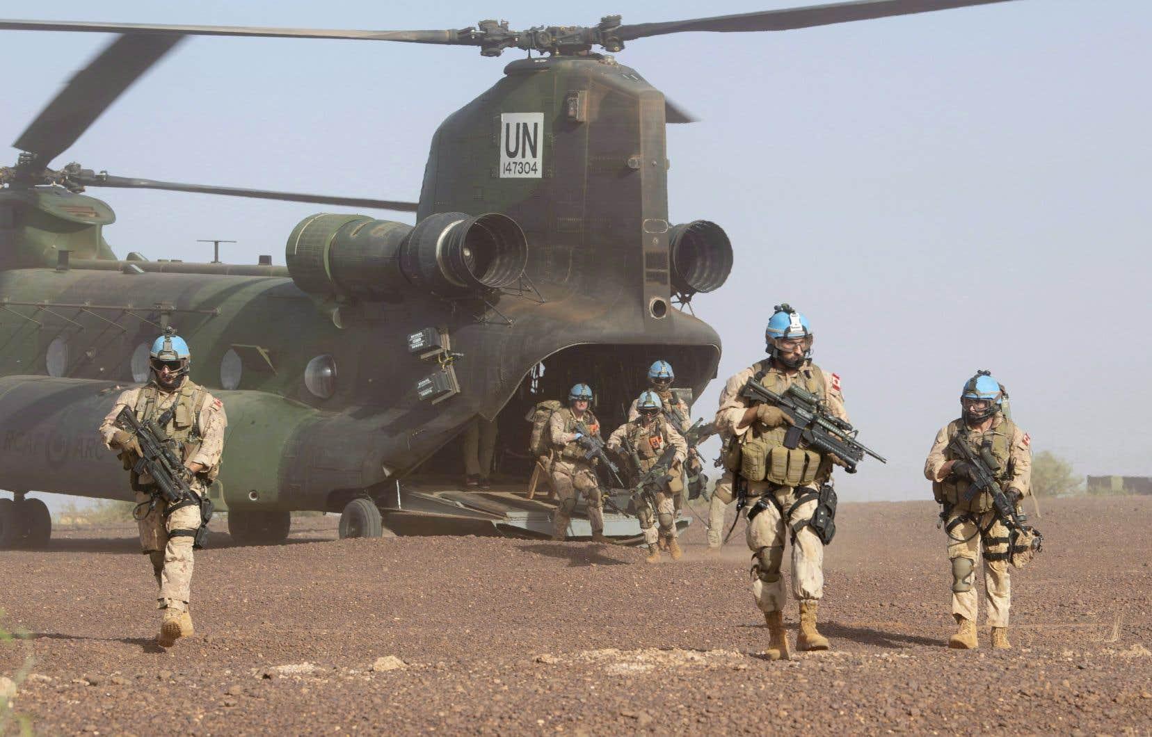 Le Canada a déployé huit hélicoptères et 250 militaires au Mali pour appuyer une mission de l'ONU depuis juillet 2018.