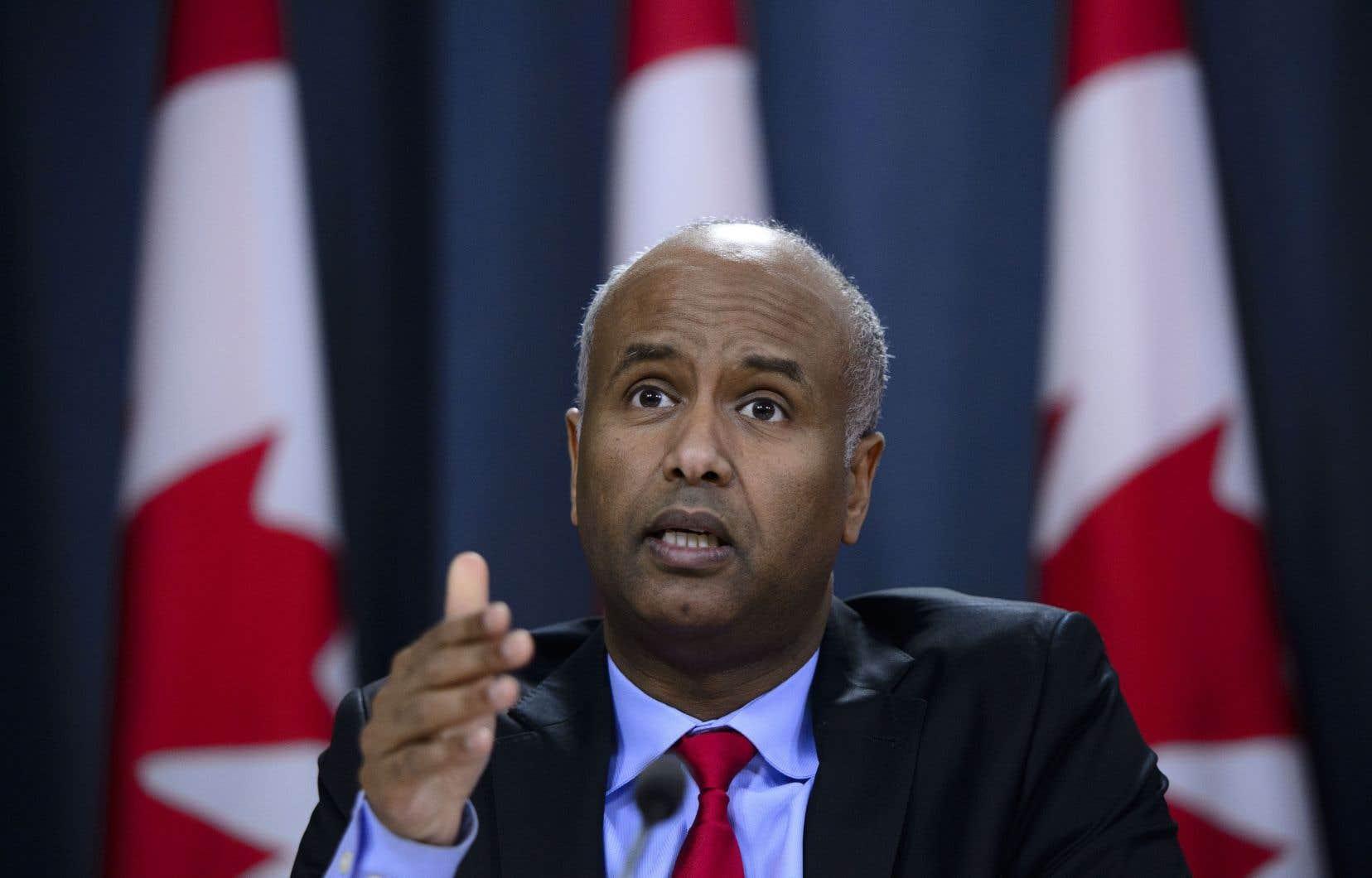 Le ministre fédéral de l'Immigration, Ahmed Hussen