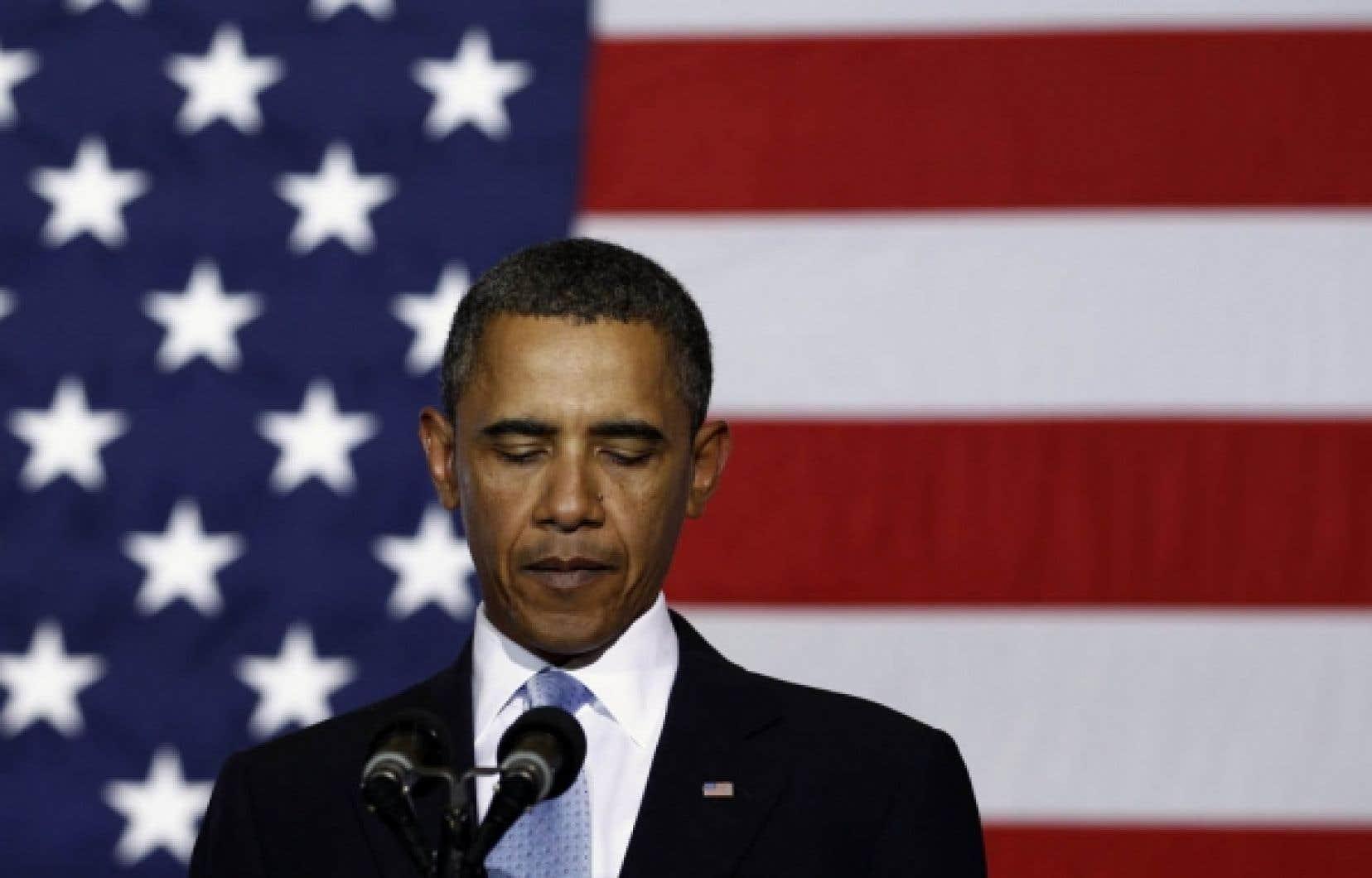 Barack Obama, hier, à La Nouvelle-Orléans: «Nous sommes toujours là.»<br />