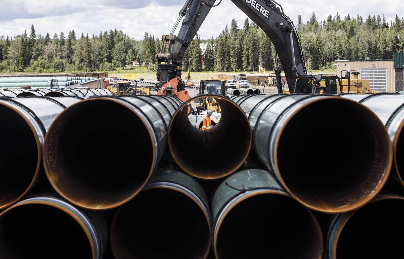 Une fois l'expansion achevée du pipeline Trans Mountain, 325millions de barils de pétrole des sables bitumineux seront transportés chaque année, contre 109millions actuellement.