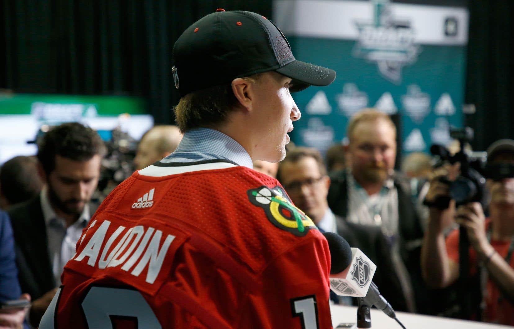 L'an dernier, le défenseur Nicolas Beaudin avait été sélectionné au 27e rang par les Blackhawks de Chicago.