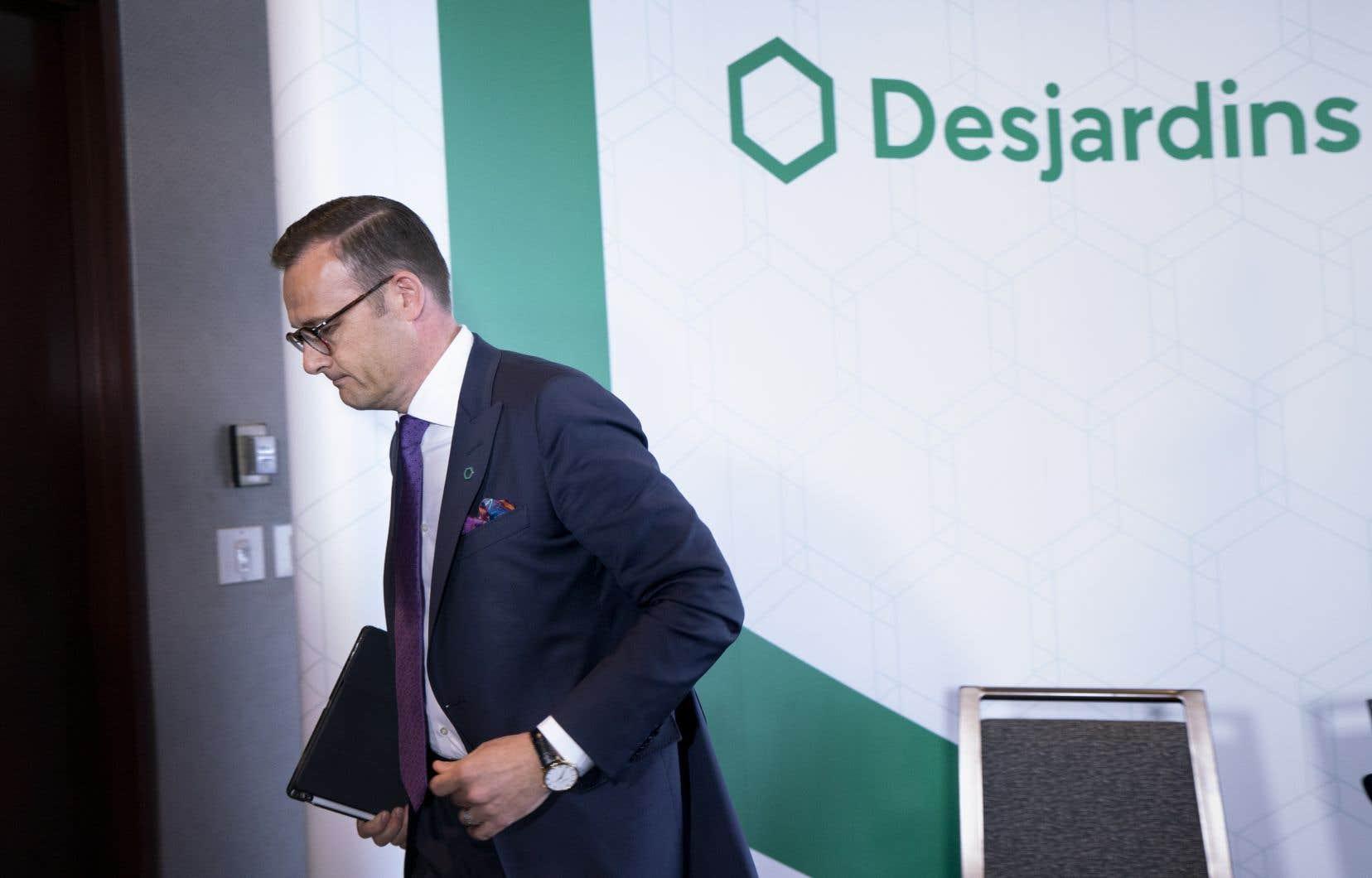 Le président de Desjardins, Guy Cormier, après l'annonce du vol de données