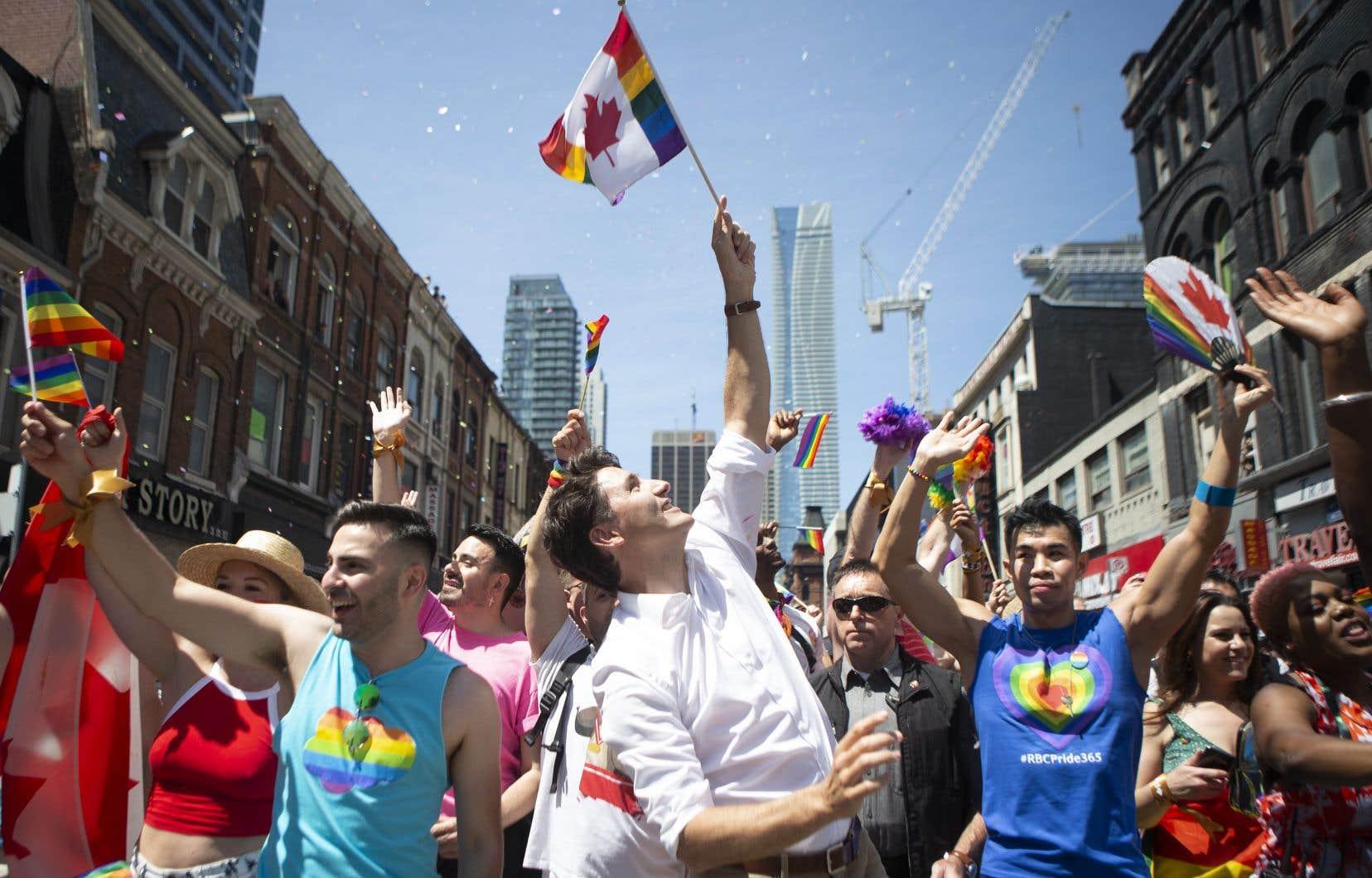 Le premier ministre fédéral, Justin Trudeau, a aussi participé au défilé annuel.
