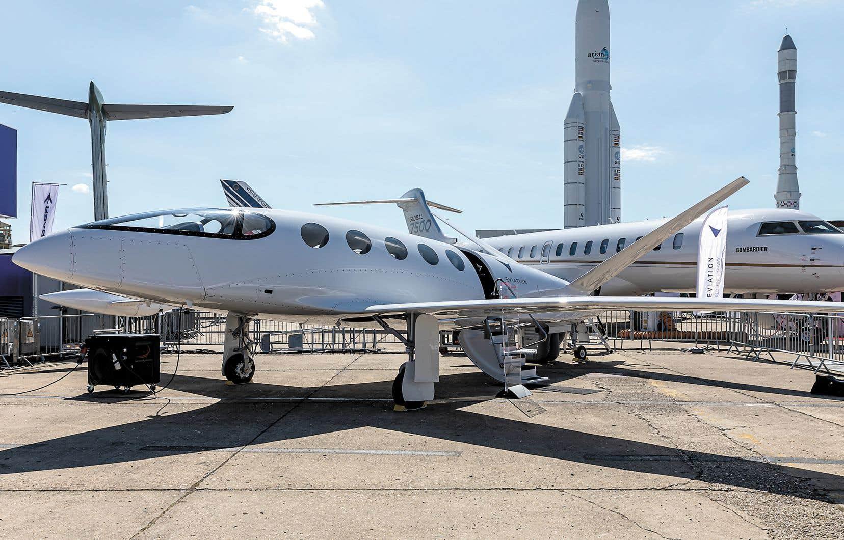 L'appareil de 9 places à propulsion entièrement électrique a été présenté la semaine dernière au salon aéronautique du Bourget, en France.