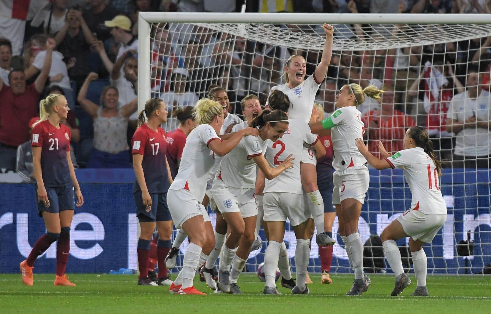 L'Angleterre atteint le carré d'as de cette compétition pour la deuxième fois d'affilée.