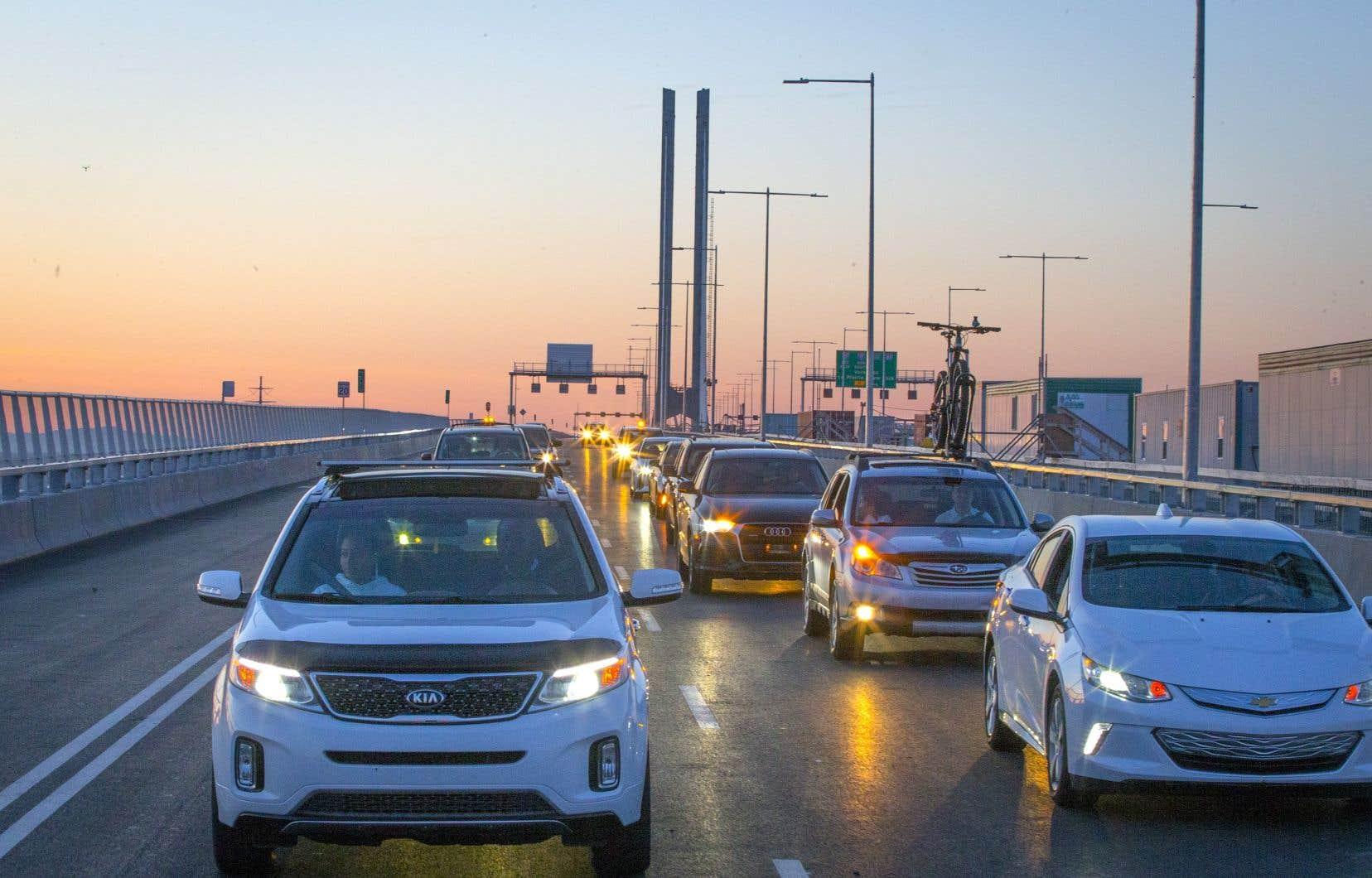 Toutes les voies seront ouvertes à compter de 11 heures, lundi, une semaine après l'ouverture partielle du nouveau pont.