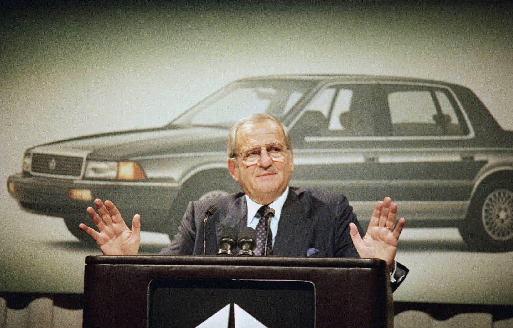 Son sauvetage de Chrysler, en tordant le bras au Congrès pour avoir un prêt, l'a placé au firmament de l'industrie automobile mondiale.