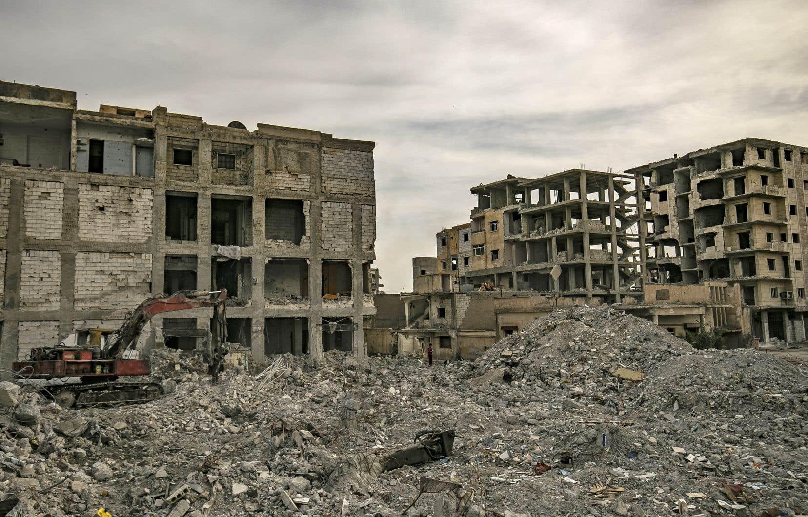 Raqqa est l'ancienne «capitale» du groupe État islamique (EI) dans le nord de la Syrie.