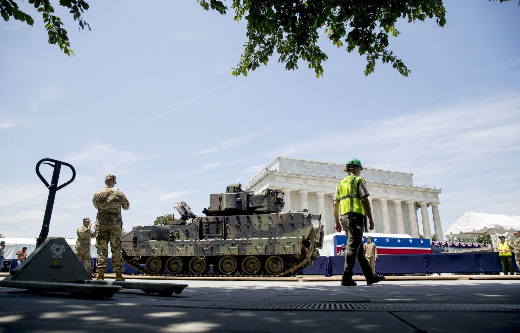 Des chars d'assaut ont été exposés dans le centre de Washington.