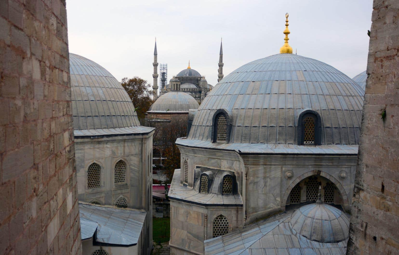 La Mosquée bleue vue de Sainte-Sophie