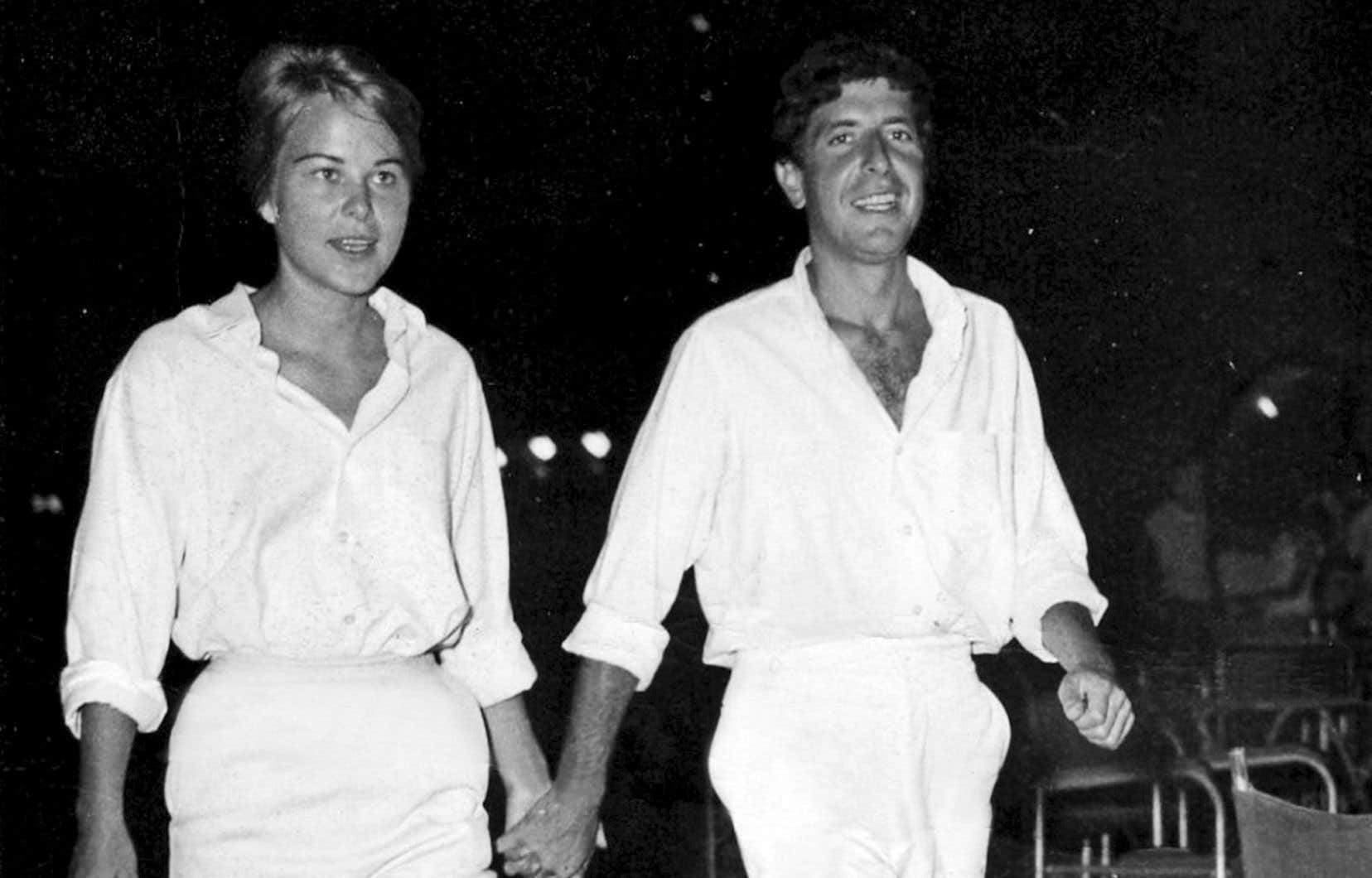Marianne Ihlen et Leonard Cohen sur l'île grecque d'Hydra