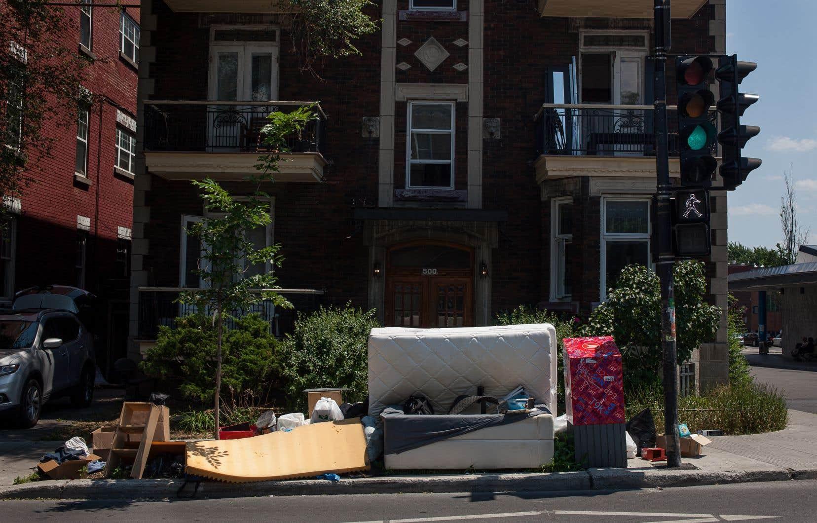 «Le 1er juillet de chaque année, le Québec vomit ses meubles IKEA et autres trésors sur les trottoirs», écrit l'auteur.