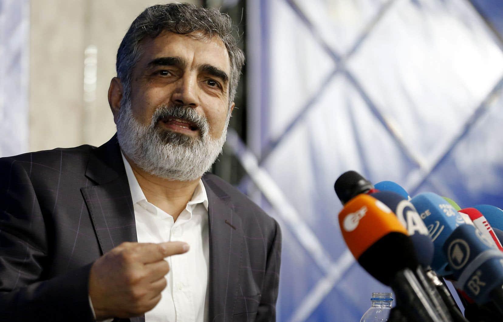 Le porte-parole del'Organisation iranienne de l'énergie atomique (OIEA), Behrouz Kamalvandi