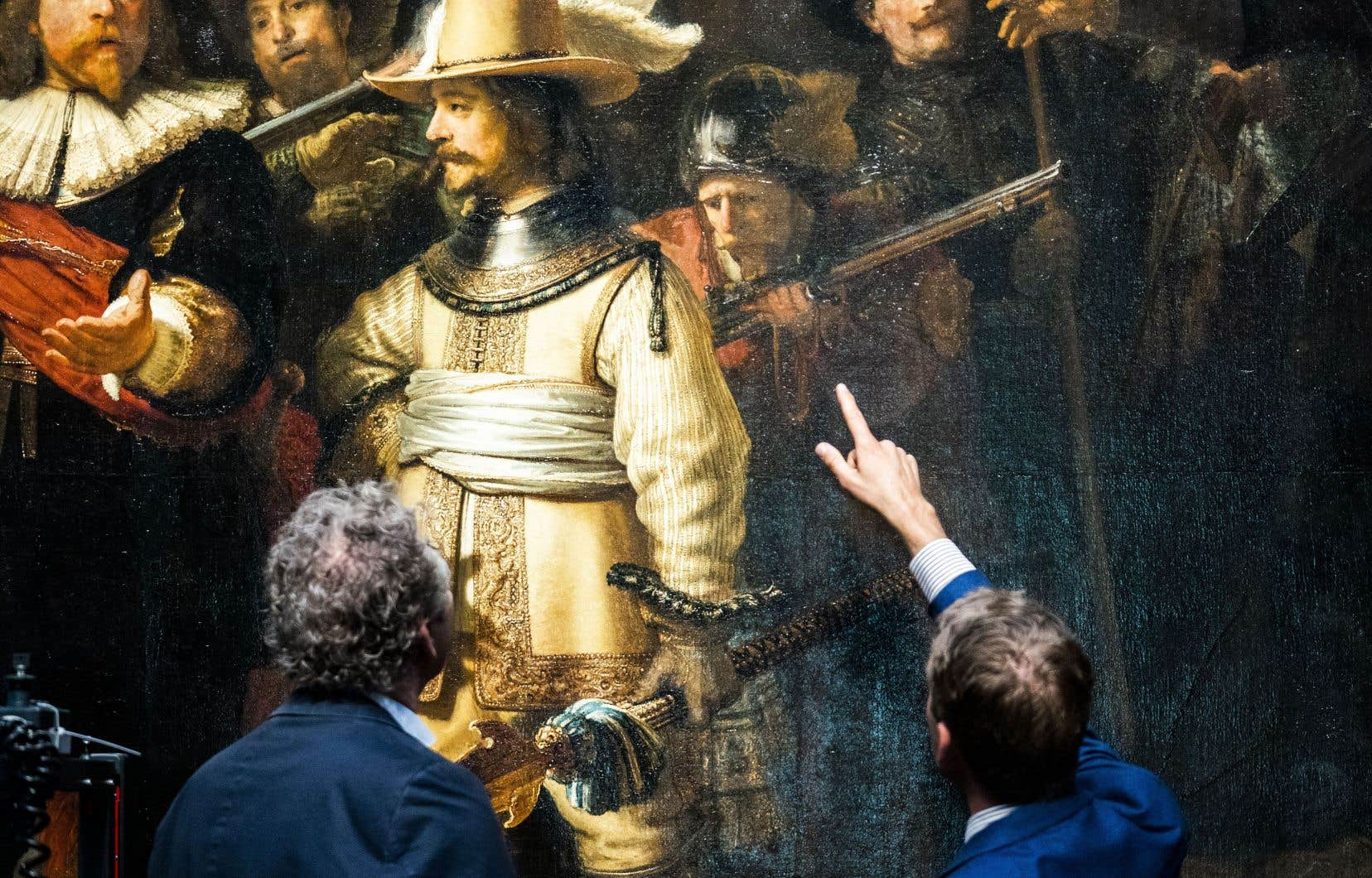 Il s'agit du travail de recherche et de restauration le plus vaste et le plus complet de l'Histoire sur le chef-d'œuvre de Rembrandt .