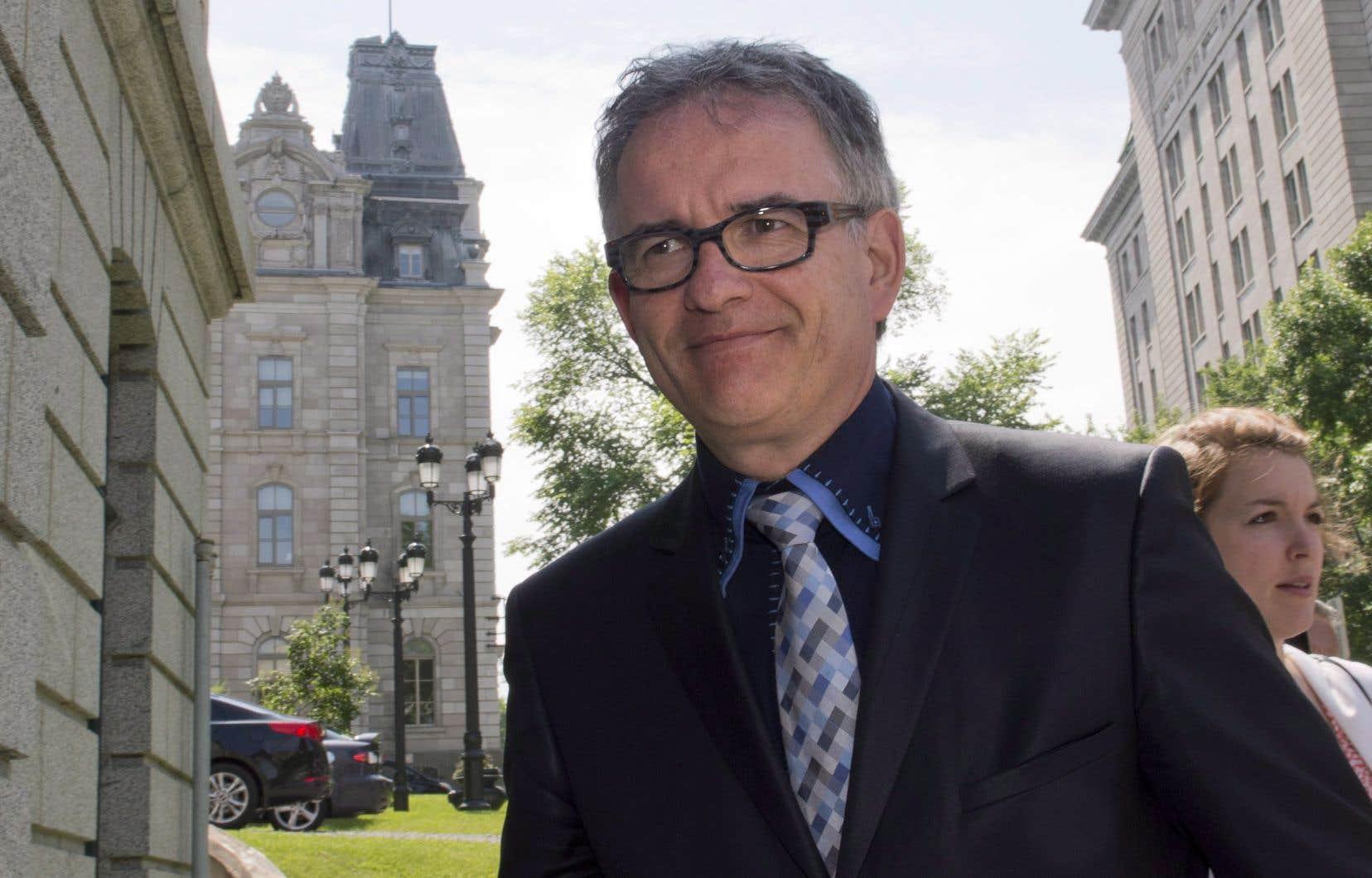Député de 2012 à 2014, Réjean Hébert avait été ministre de la Santé sous la première ministre Pauline Marois.