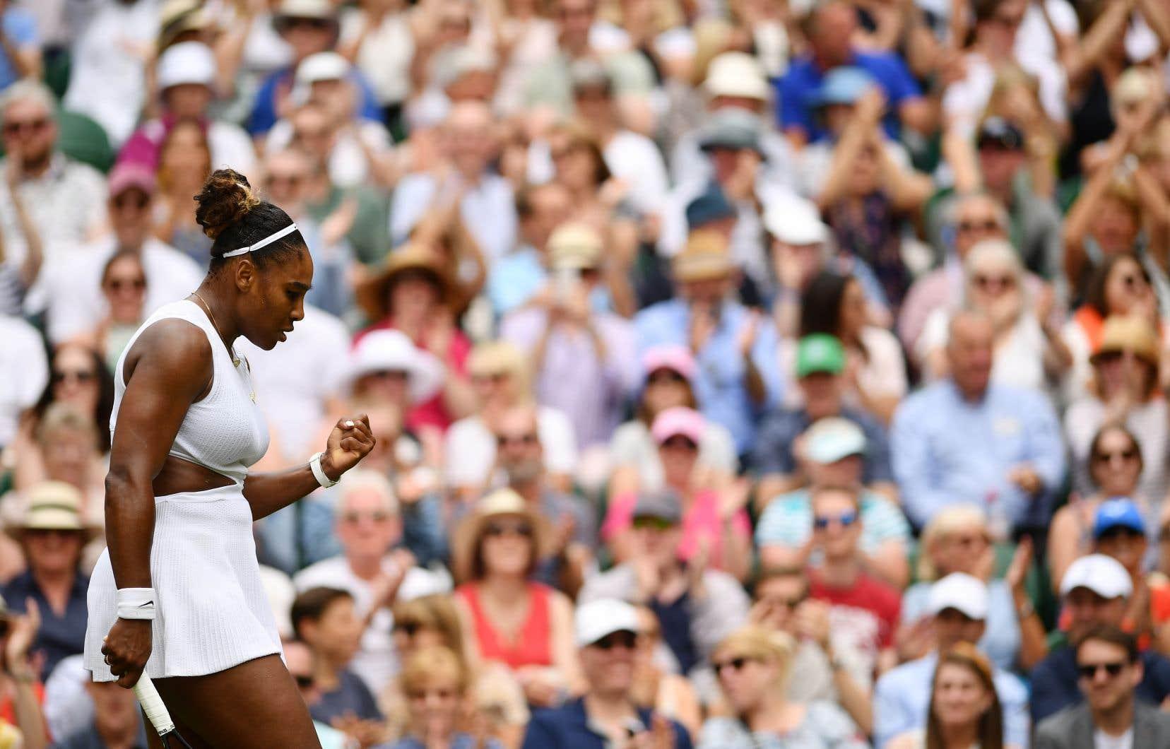 Serena Williams, âgée de 37ans et détentrice de sept titres au All England Club, participera aux demi-finales à Wimbledon pour la 12efois de sa carrière.