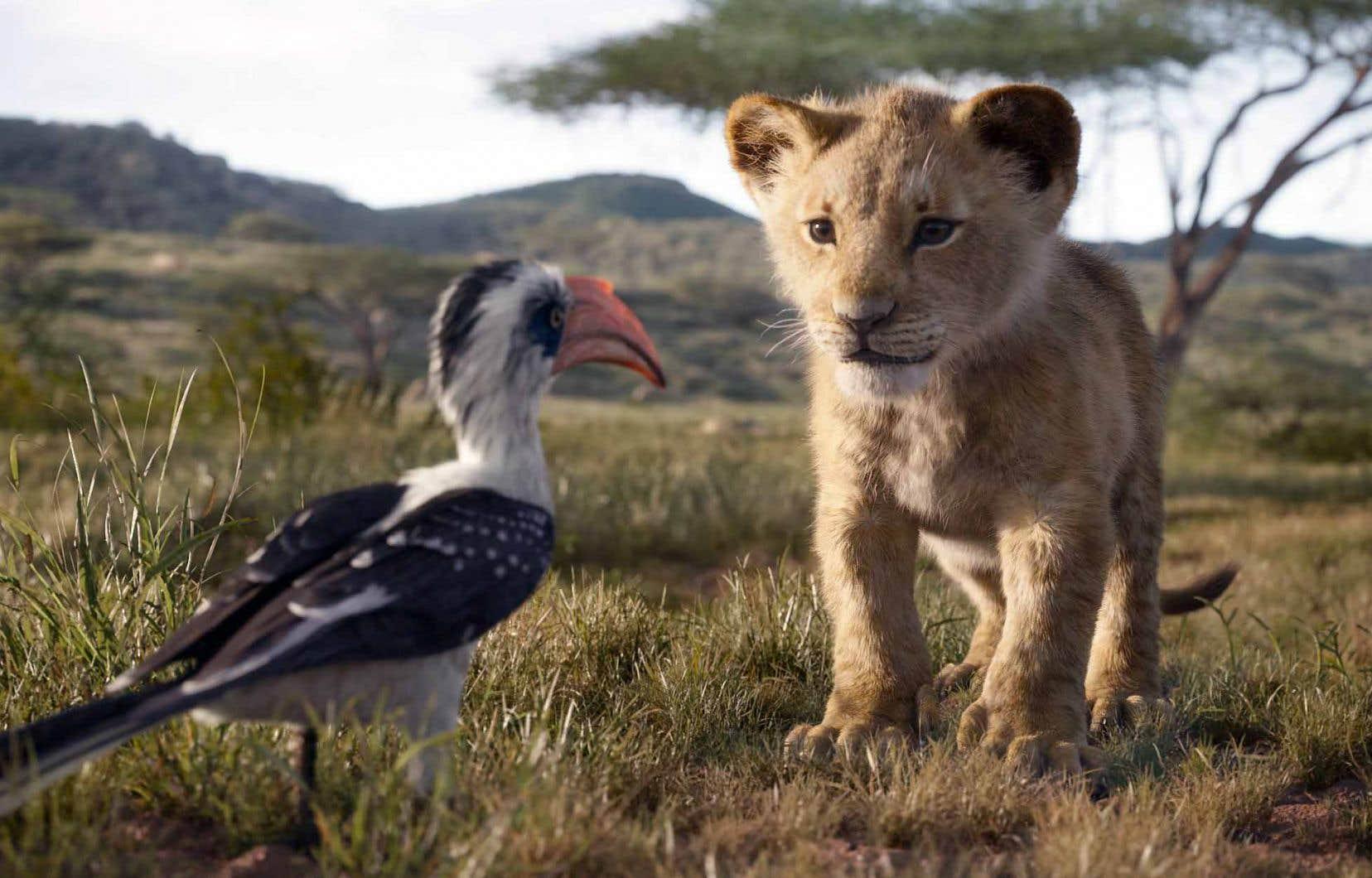 Le jeune Simba, dans une scène tirée de la reprise du classique «Le roi lion»