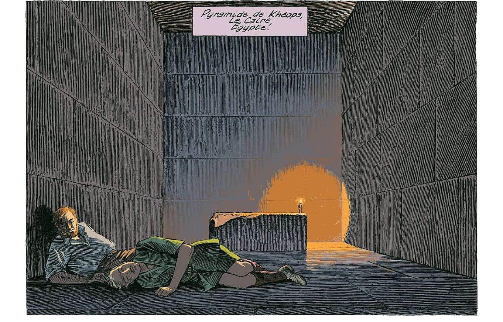 Dans «Le dernier pharaon», François Schuiten intègre les personnages de Blake et Mortimer dans son propre univers aux perspectives architecturales vertigineuses.