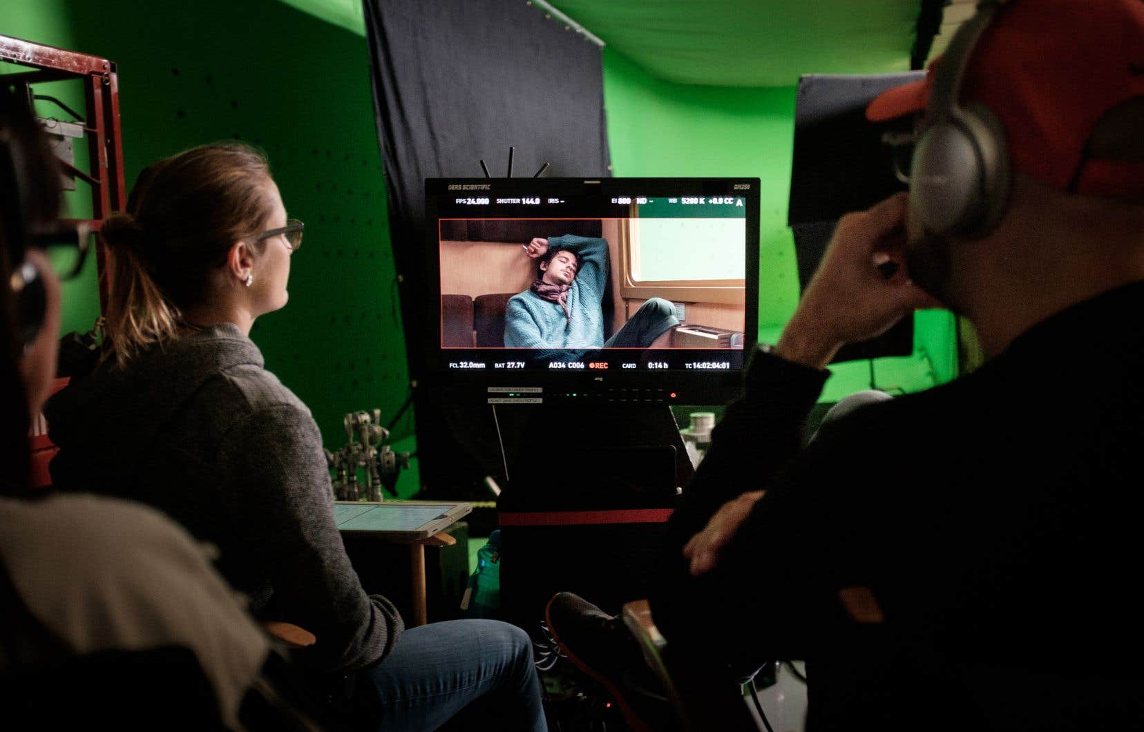 Au Québec, la valeur de la production cinématographique a chuté de 145millions en 2017-2018. Sur la photo, le tournage du film «1991» de Ricardo Trogi.
