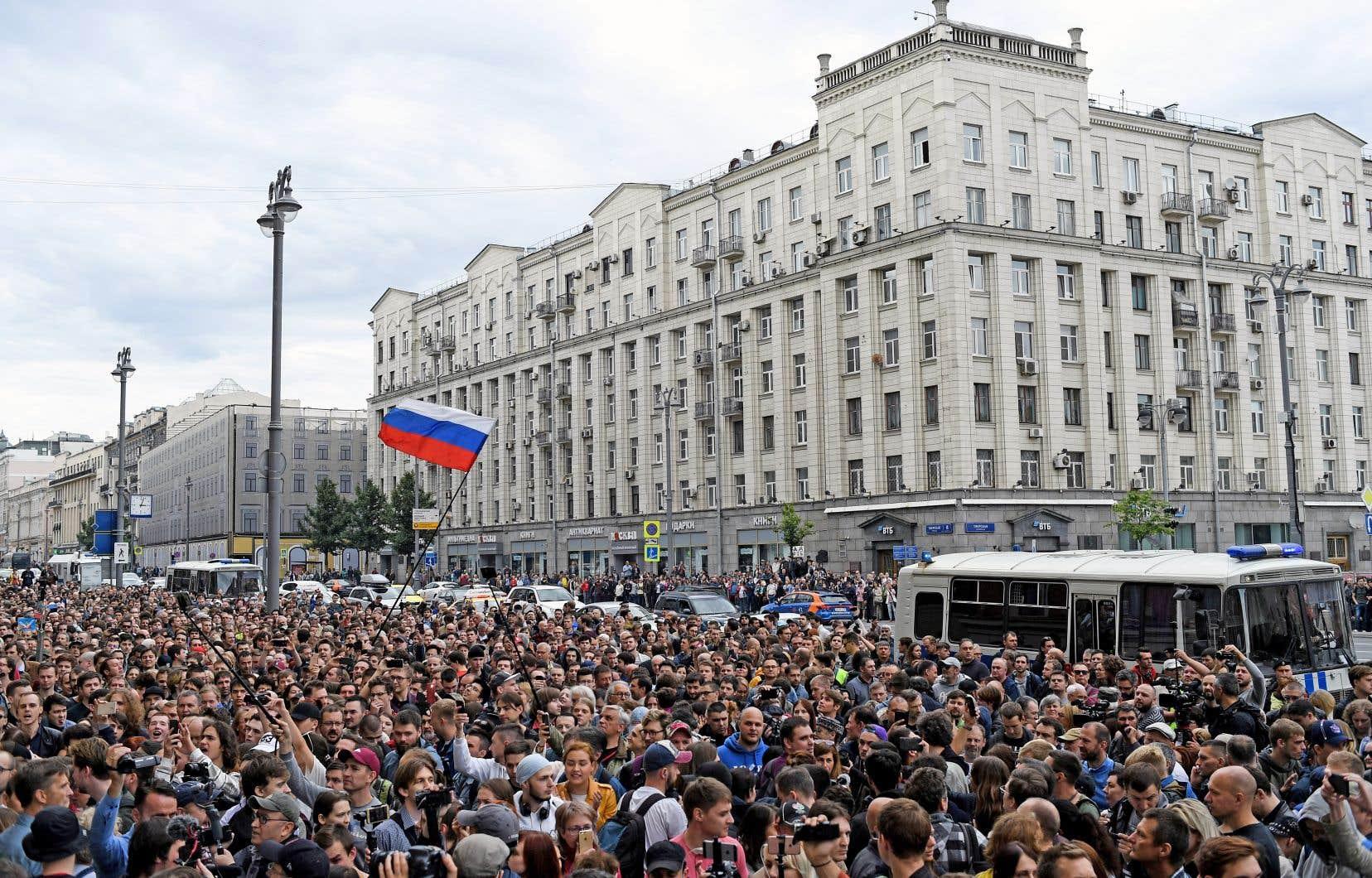 La police a évoqué «plus de 25» interpellations dans le cadre de la manifestation de dimanche, à Moscou.
