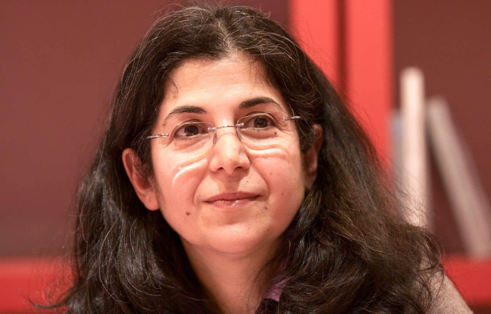 Fariba Adelkhah lors du Salon du livre de Paris, en 2010