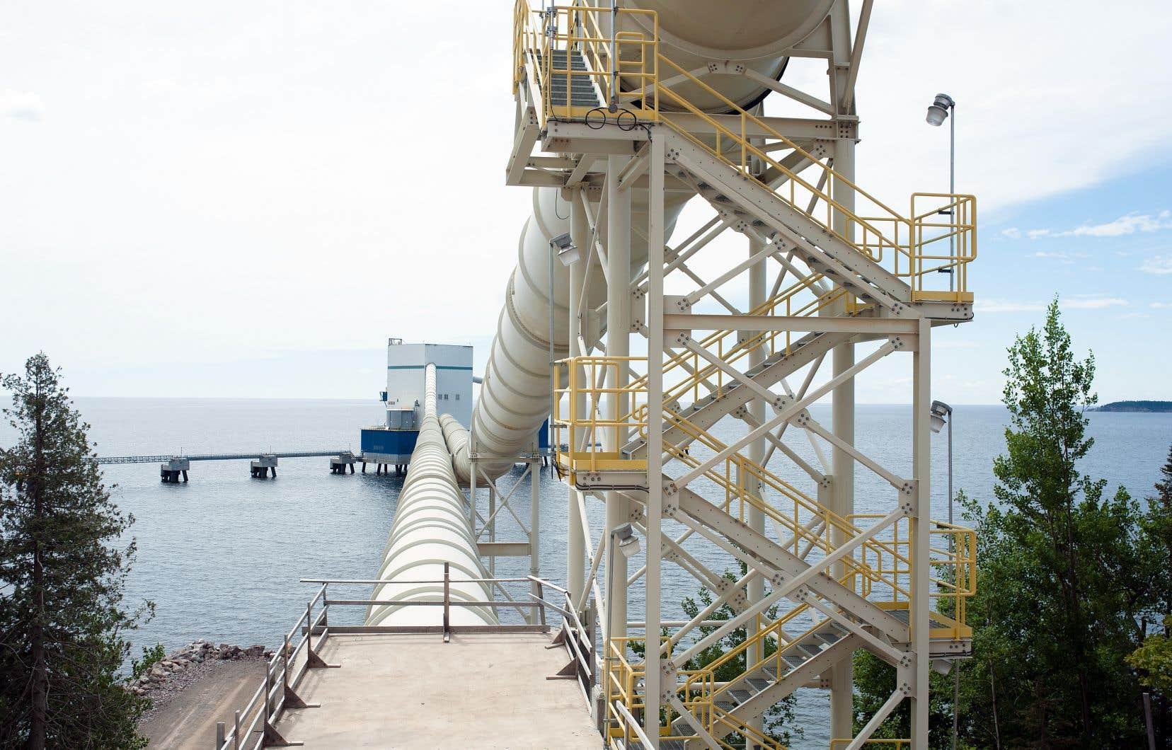 Ciment McInnis, dont la production a déjà trouvé preneur pour 2019, exporte environ la moitié du ciment produit vers les États-Unis.