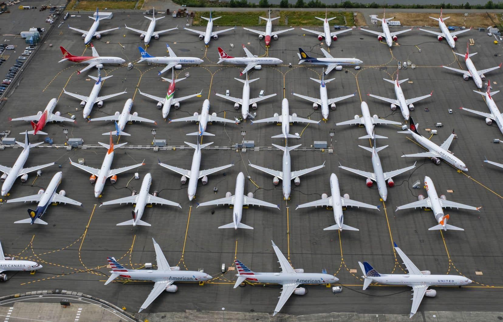 Depuis mars, tous les avions Boeing 737 MAX de la planète sont immobilisés.