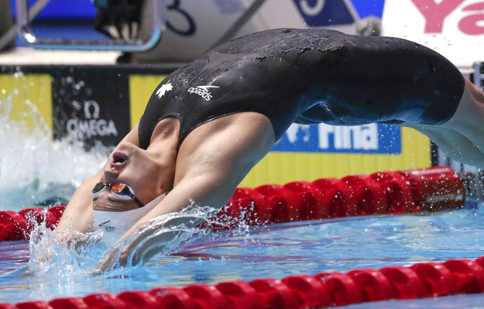 L'Ontarienne Kylie Masse a devancé sa plus proche adversaire d'un quart de seconde au 100m dos.