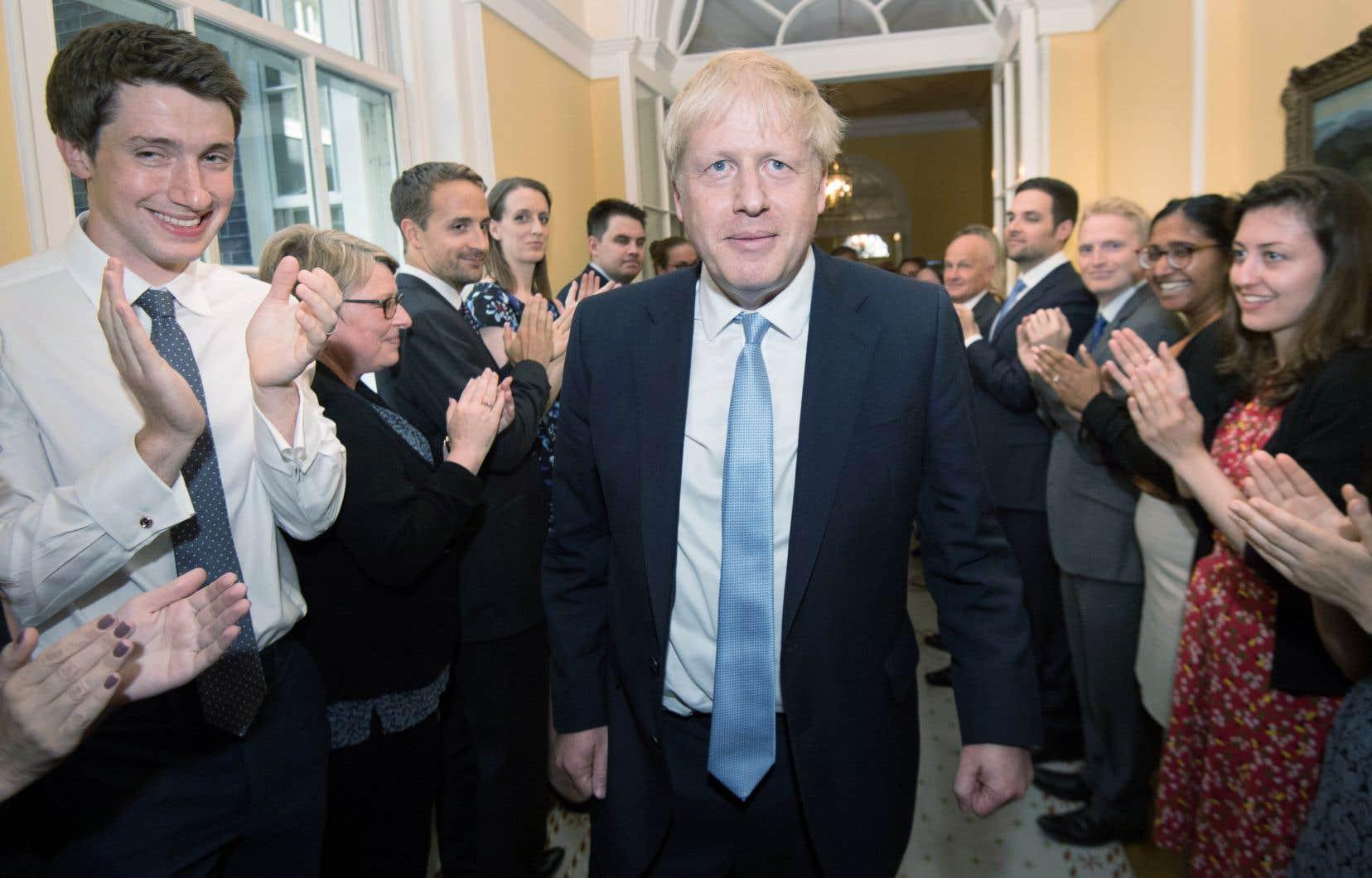 Lors de son premier discours devant le 10 Downing Street, Boris Johnson a promis de «sortir de l'UE le 31octobre, sans conditions».