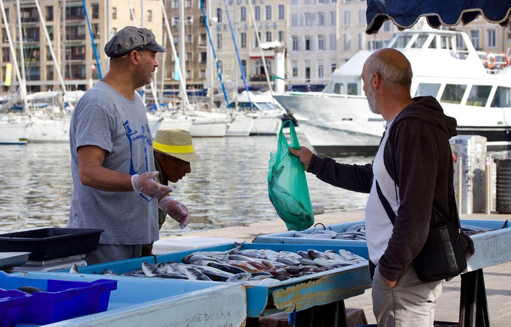 Que serait Marseille sans son «poissongue»? Ici, au quai des Belges.