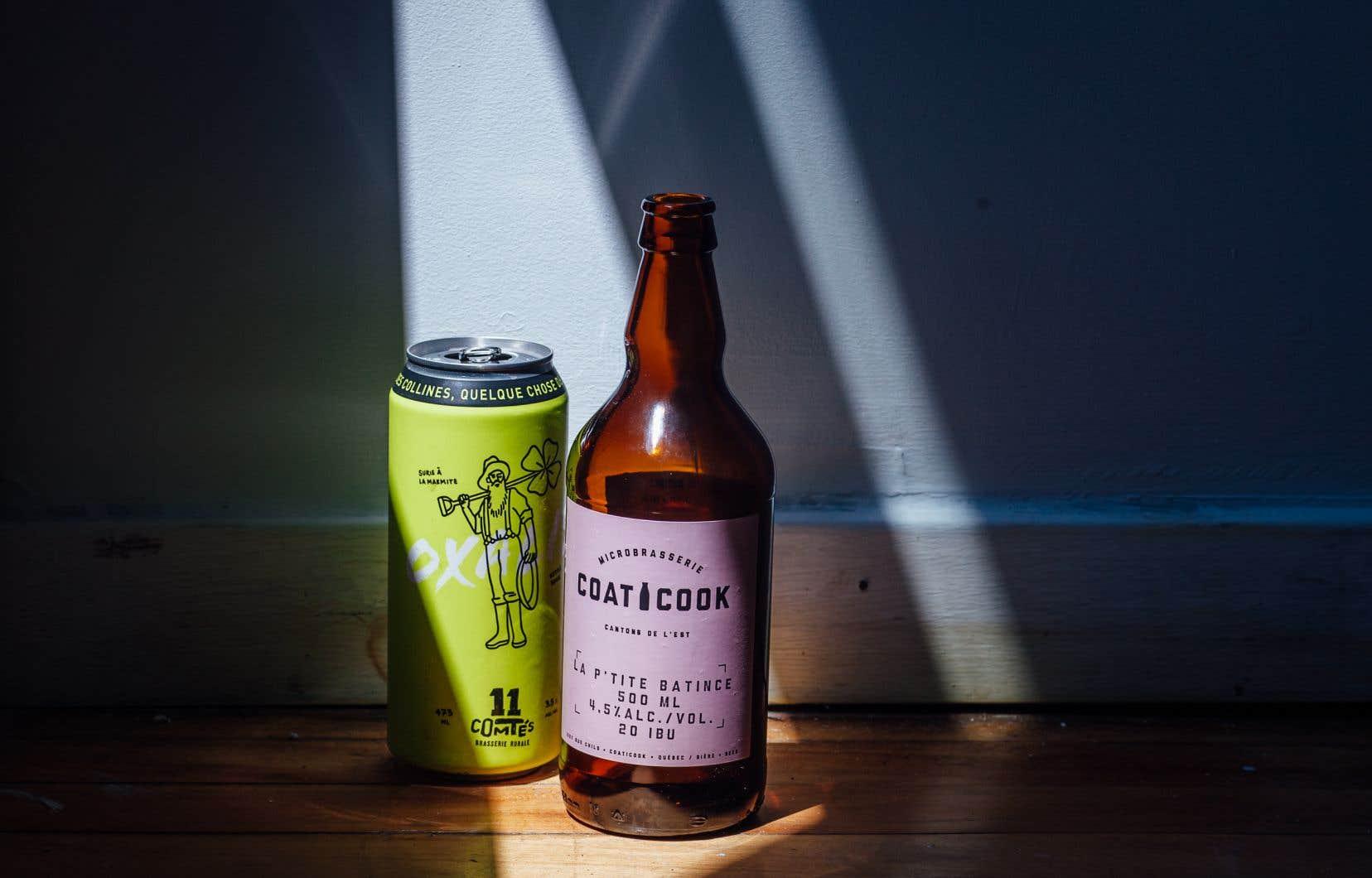 Les bières de la semaine: l'Oxalis, une kettle sour, et La P'tite Batince, une ale aux canneberges