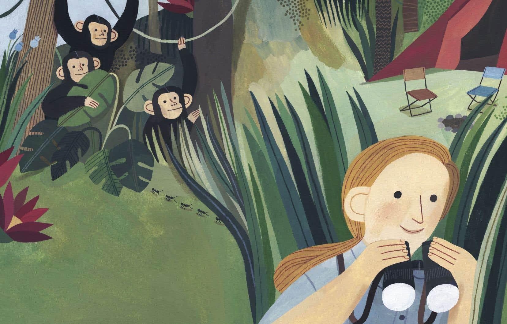 Illustration tirée du livre «Jane Goodall»