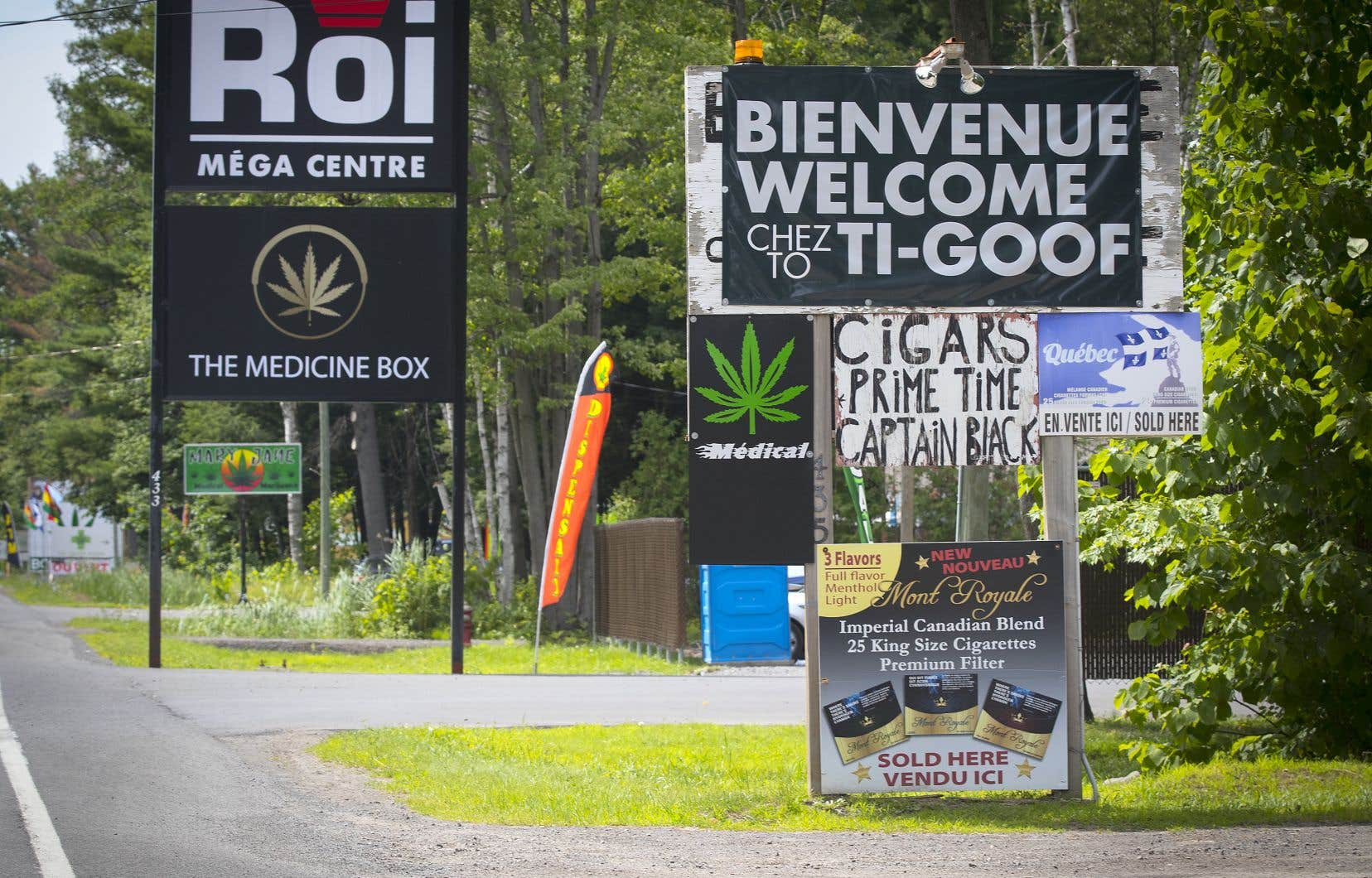 Les «cabanes à pot» illégales prolifèrent sur le territoire de Kanesatake.