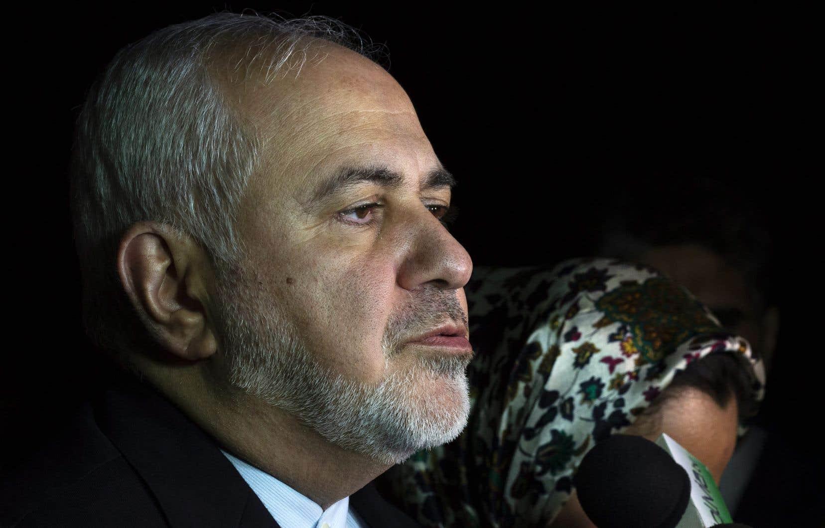 Le ministre des Afffaires étrangères de l'Iran, Mohammad Javad Zarif, lors d'une visite en Bolivie le 23 juillet dernier