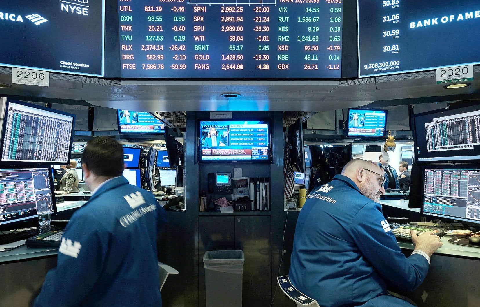 Le recul de l'indice S&P 500 de plus de 1% à Wall Street suggère que les marchés ont réagi durement à l'annonce de la Fed mercredi.